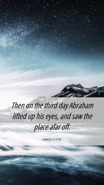 Picture 06 - Genesis 22:4 KJV Mobile Phone Wallpaper - Then on the third day Abraham lifted up his eyes, - Mobile Bible Verse Wallpaper