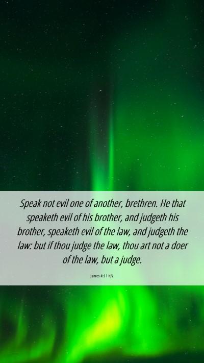 Picture 06 - James 4:11 KJV Mobile Phone Wallpaper - Speak not evil one of another, brethren. He that - Mobile Bible Verse Wallpaper
