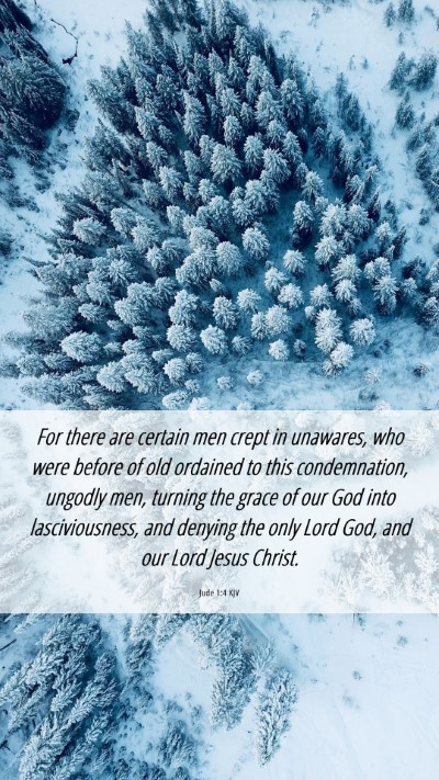 Picture 06 - Jude 1:4 KJV Mobile Phone Wallpaper - For there are certain men crept in unawares, who - Mobile Bible Verse Wallpaper