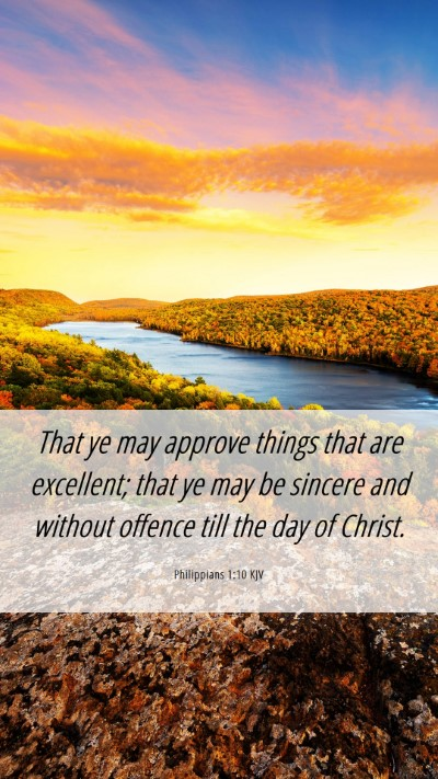 Picture 06 - Philippians 1:10 KJV Mobile Phone Wallpaper - That ye may approve things that are excellent; - Mobile Bible Verse Wallpaper