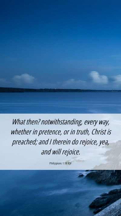 Picture 06 - Philippians 1:18 KJV Mobile Phone Wallpaper - What then? notwithstanding, every way, whether in - Mobile Bible Verse Wallpaper