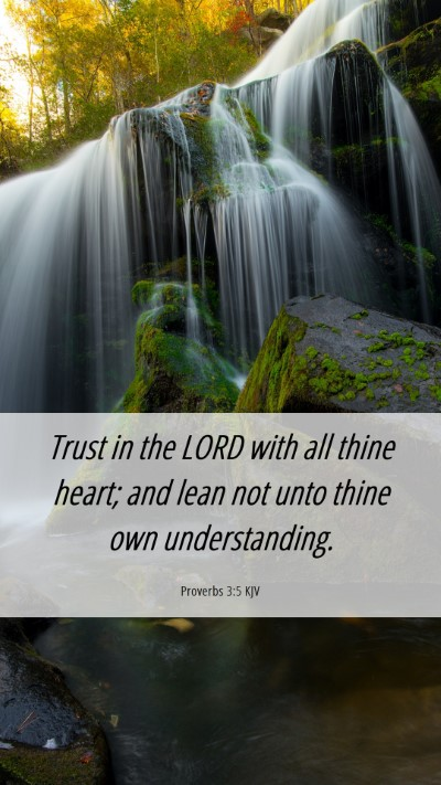 Picture 06 - Proverbs 3:5 KJV Mobile Phone Wallpaper - Trust in the LORD with all thine heart; and lean - Mobile Bible Verse Wallpaper
