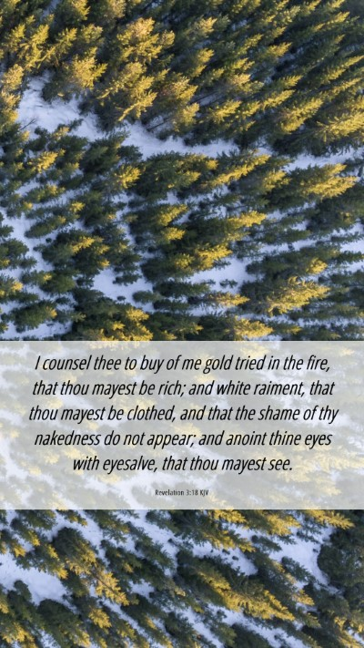 Picture 06 - Revelation 3:18 KJV Mobile Phone Wallpaper - I counsel thee to buy of me gold tried in the - Mobile Bible Verse Wallpaper