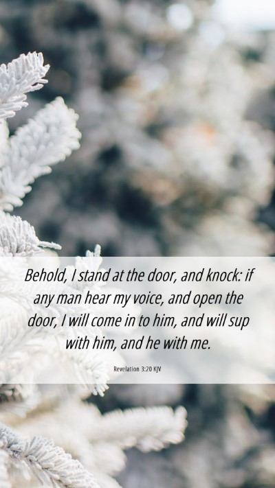 Picture 06 - Revelation 3:20 KJV Mobile Phone Wallpaper - Behold, I stand at the door, and knock: if any - Mobile Bible Verse Wallpaper