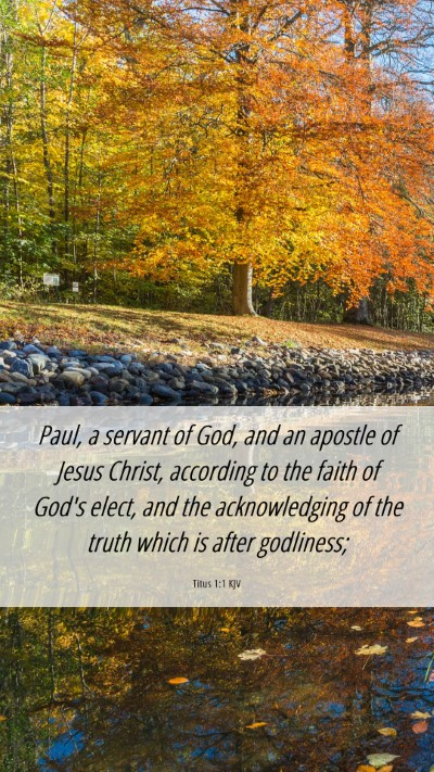 Picture 06 - Titus 1:1 KJV Mobile Phone Wallpaper - Paul, a servant of God, and an apostle of Jesus - Mobile Bible Verse Wallpaper