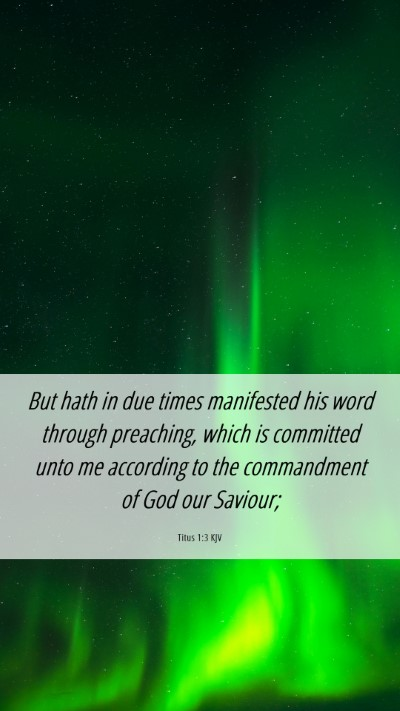 Picture 06 - Titus 1:3 KJV Mobile Phone Wallpaper - But hath in due times manifested his word through - Mobile Bible Verse Wallpaper