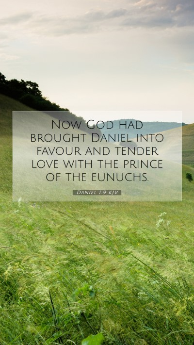 Picture 07 - Daniel 1:9 KJV Mobile Phone Wallpaper - Now God had brought Daniel into favour and tender - Mobile Bible Verse Wallpaper
