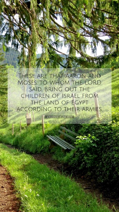 Picture 07 - Exodus 6:26 KJV Mobile Phone Wallpaper - These are that Aaron and Moses, to whom the LORD - Mobile Bible Verse Wallpaper