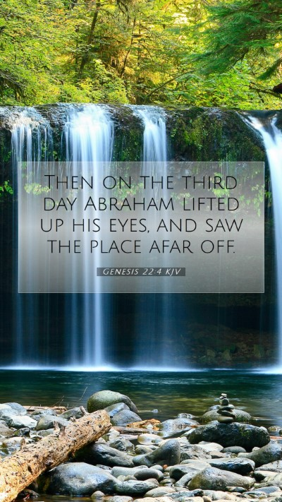 Picture 07 - Genesis 22:4 KJV Mobile Phone Wallpaper - Then on the third day Abraham lifted up his eyes, - Mobile Bible Verse Wallpaper