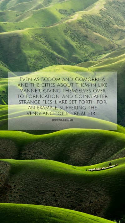 Picture 07 - Jude 1:7 KJV Mobile Phone Wallpaper - Even as Sodom and Gomorrha, and the cities about - Mobile Bible Verse Wallpaper
