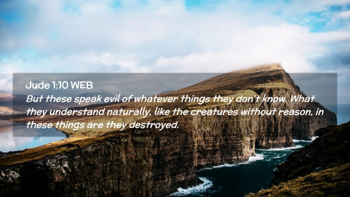 Picture 02 - Jude 1:10 WEB Desktop Wallpaper - But these speak evil of whatever things they - Desktop Bible Verse Wallpaper