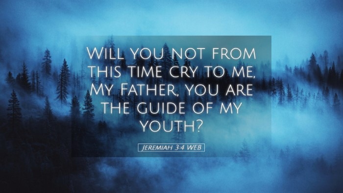 Picture 05 - Jeremiah 3:4 WEB Desktop Wallpaper - Will you not from this time cry to me, My Father, - Desktop Bible Verse Wallpaper