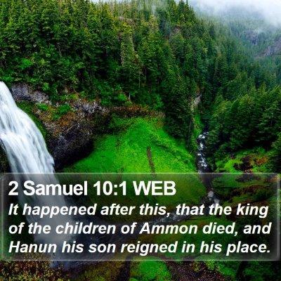 2 Samuel 10:1 WEB Bible Verse Image