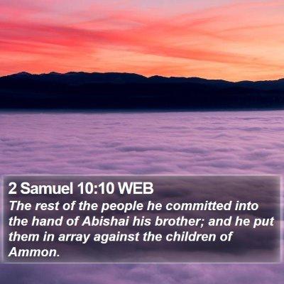 2 Samuel 10:10 WEB Bible Verse Image