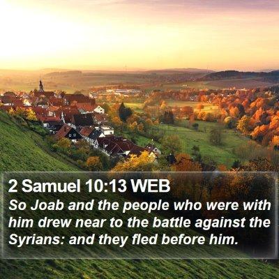 2 Samuel 10:13 WEB Bible Verse Image