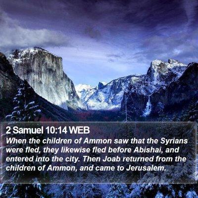 2 Samuel 10:14 WEB Bible Verse Image