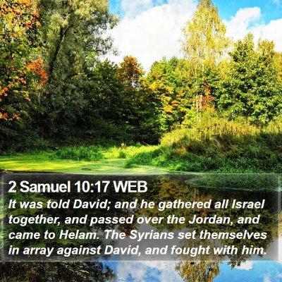 2 Samuel 10:17 WEB Bible Verse Image