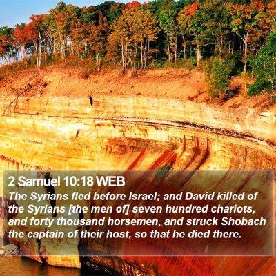 2 Samuel 10:18 WEB Bible Verse Image