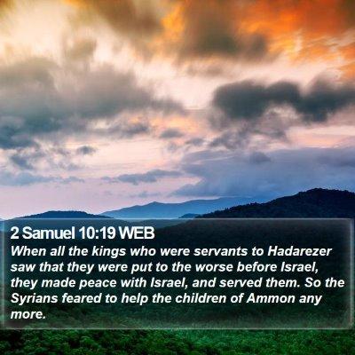 2 Samuel 10:19 WEB Bible Verse Image
