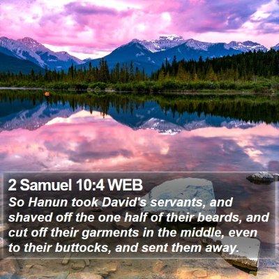 2 Samuel 10:4 WEB Bible Verse Image