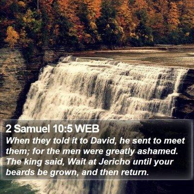 2 Samuel 10:5 WEB Bible Verse Image