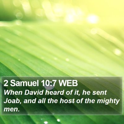 2 Samuel 10:7 WEB Bible Verse Image