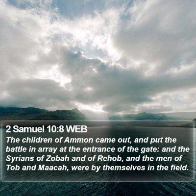 2 Samuel 10:8 WEB Bible Verse Image