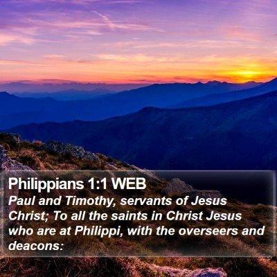 Philippians 1:1 WEB Bible Verse Image