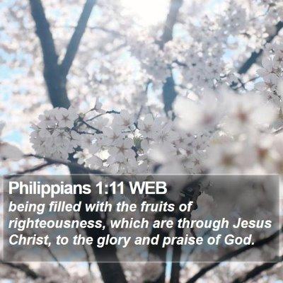 Philippians 1:11 WEB Bible Verse Image