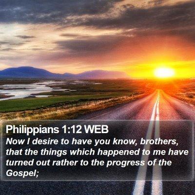 Philippians 1:12 WEB Bible Verse Image