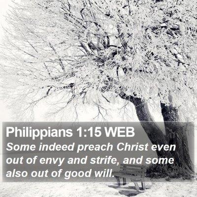 Philippians 1:15 WEB Bible Verse Image