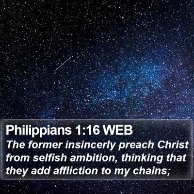 Philippians 1:16 WEB Bible Verse Image