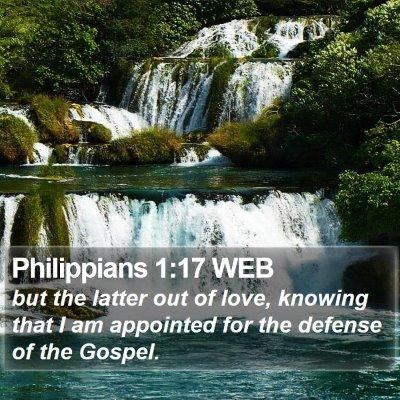 Philippians 1:17 WEB Bible Verse Image