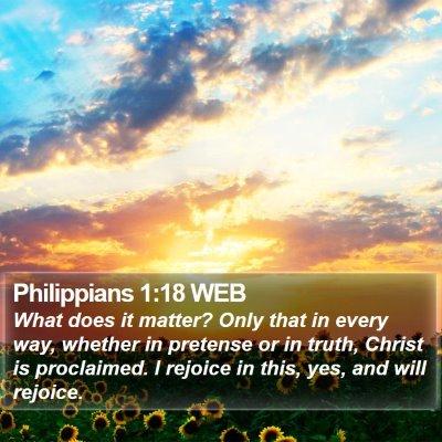 Philippians 1:18 WEB Bible Verse Image