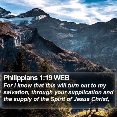 Philippians 1:19 WEB Bible Verse Image