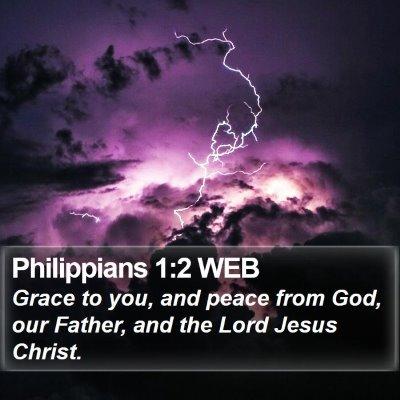 Philippians 1:2 WEB Bible Verse Image