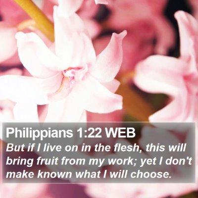 Philippians 1:22 WEB Bible Verse Image
