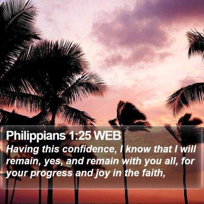 Philippians 1:25 WEB Bible Verse Image