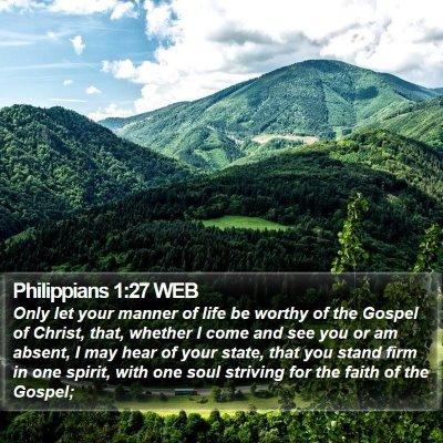 Philippians 1:27 WEB Bible Verse Image