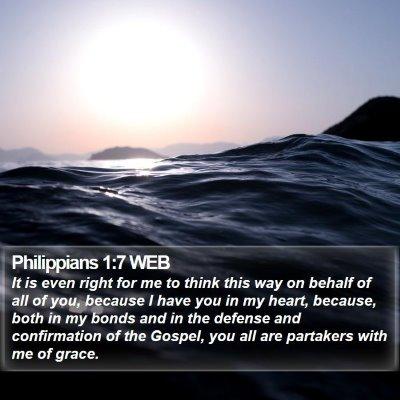 Philippians 1:7 WEB Bible Verse Image