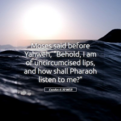 Picture 05 - Exodus 6:30 WEB - Moses said before Yahweh,