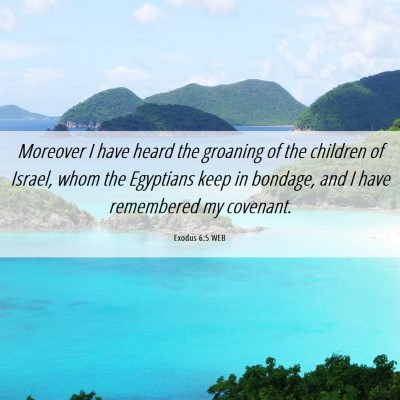 Picture 06 - Exodus 6:5 WEB - Moreover I have heard the groaning of the - Bible Verse Picture