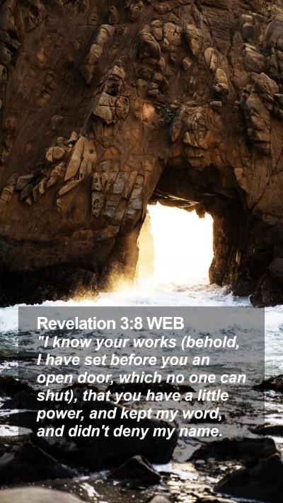 Revelation 3:8 WEB Mobile Phone Wallpaper -