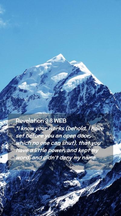 Picture 02 - Revelation 3:8 WEB Mobile Phone Wallpaper -